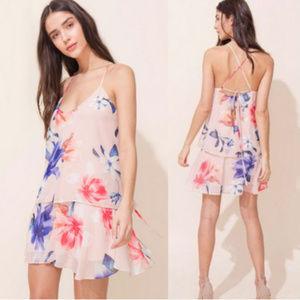 YUMI KIM Floral print dress Layered Up NWT